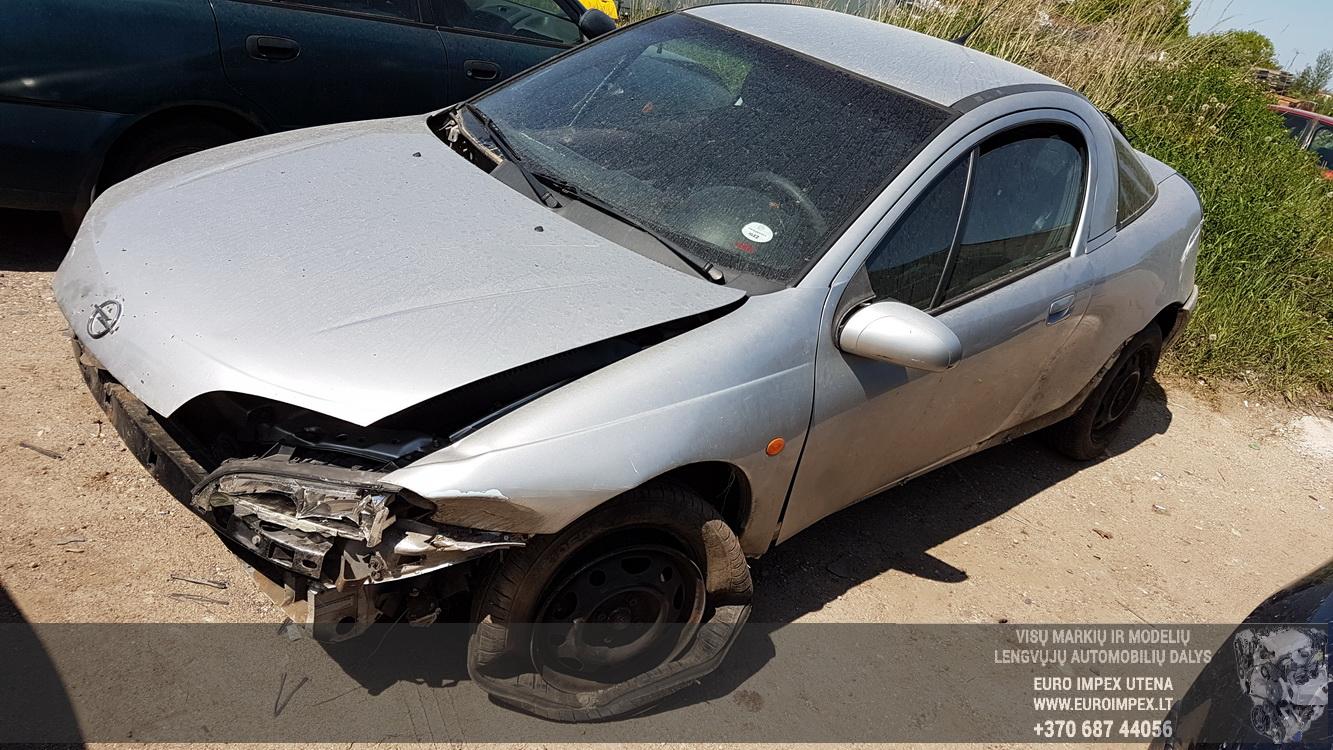 Naudotos automobilio dalys Opel TIGRA 1998 1.4 Automatinė Hečbekas 2/3 d. Balta 2016-5-23