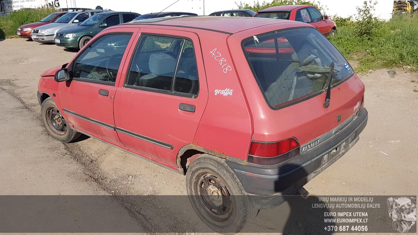 Naudotos automobilio dalys Renault CLIO 1991 1.2 Mechaninė Hečbekas 4/5 d. Raudona 2016-6-02