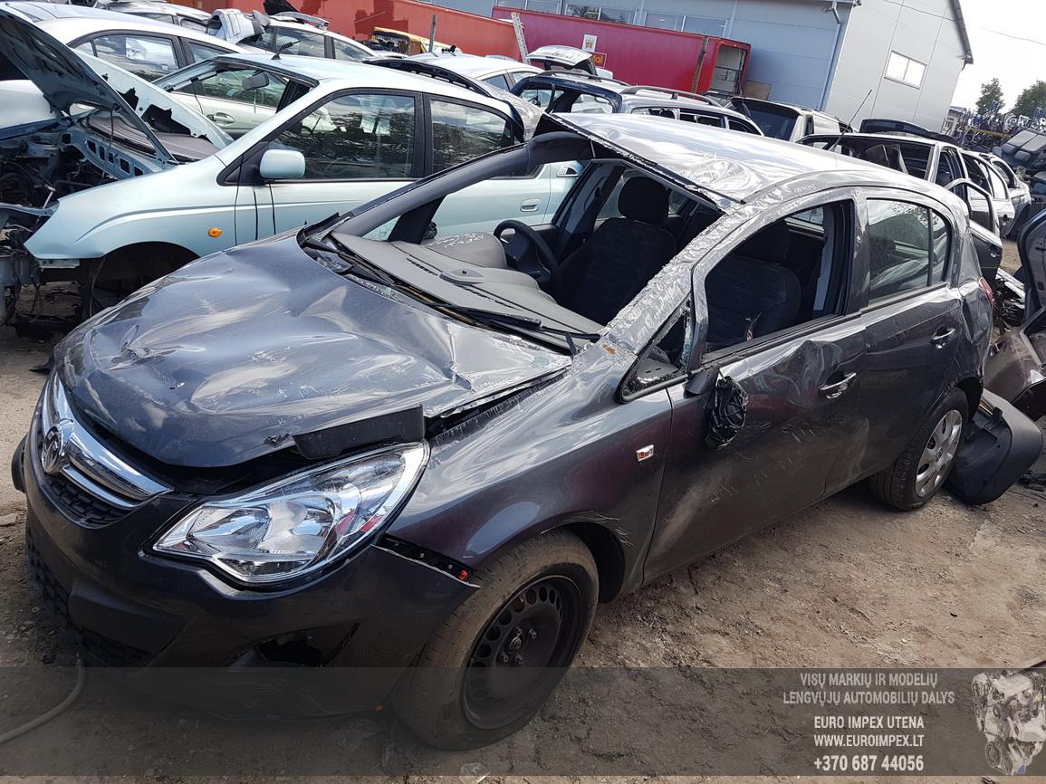 Naudotos automobilio dalys Opel CORSA 2012 1.3 Mechaninė Hečbekas 4/5 d. Pilka 2016-6-08
