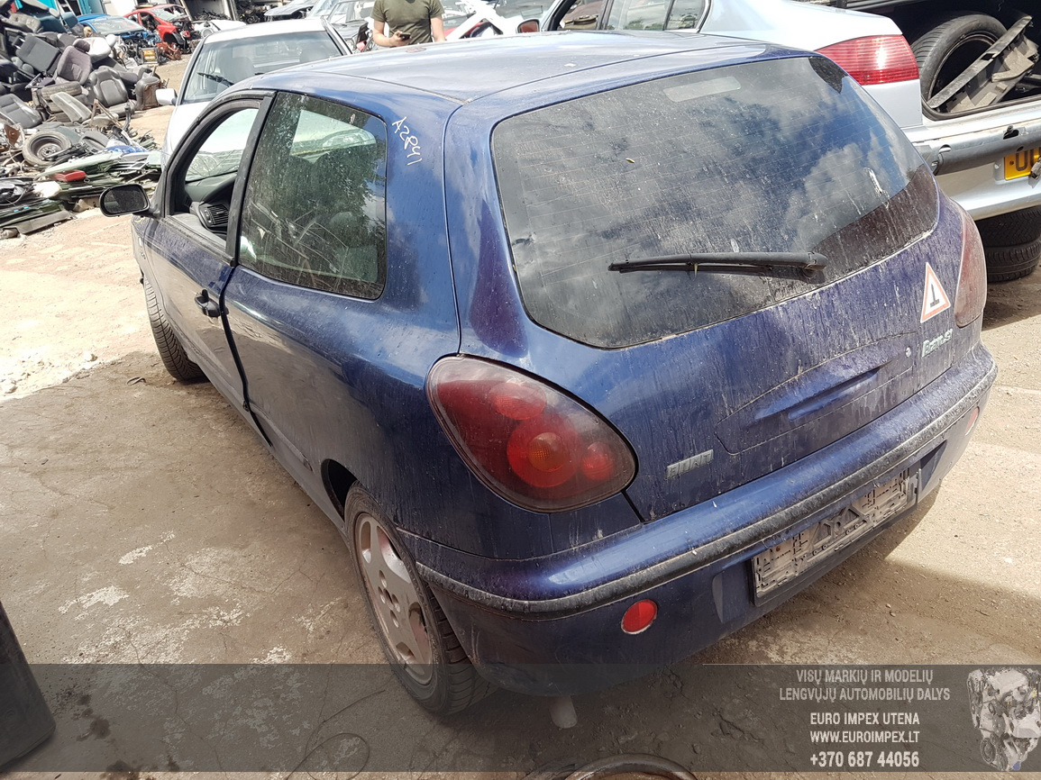 Naudotos automobilio dalys Fiat BRAVO 1997 1.6 Automatinė Hečbekas 2/3 d. Melyna 2016-6-09