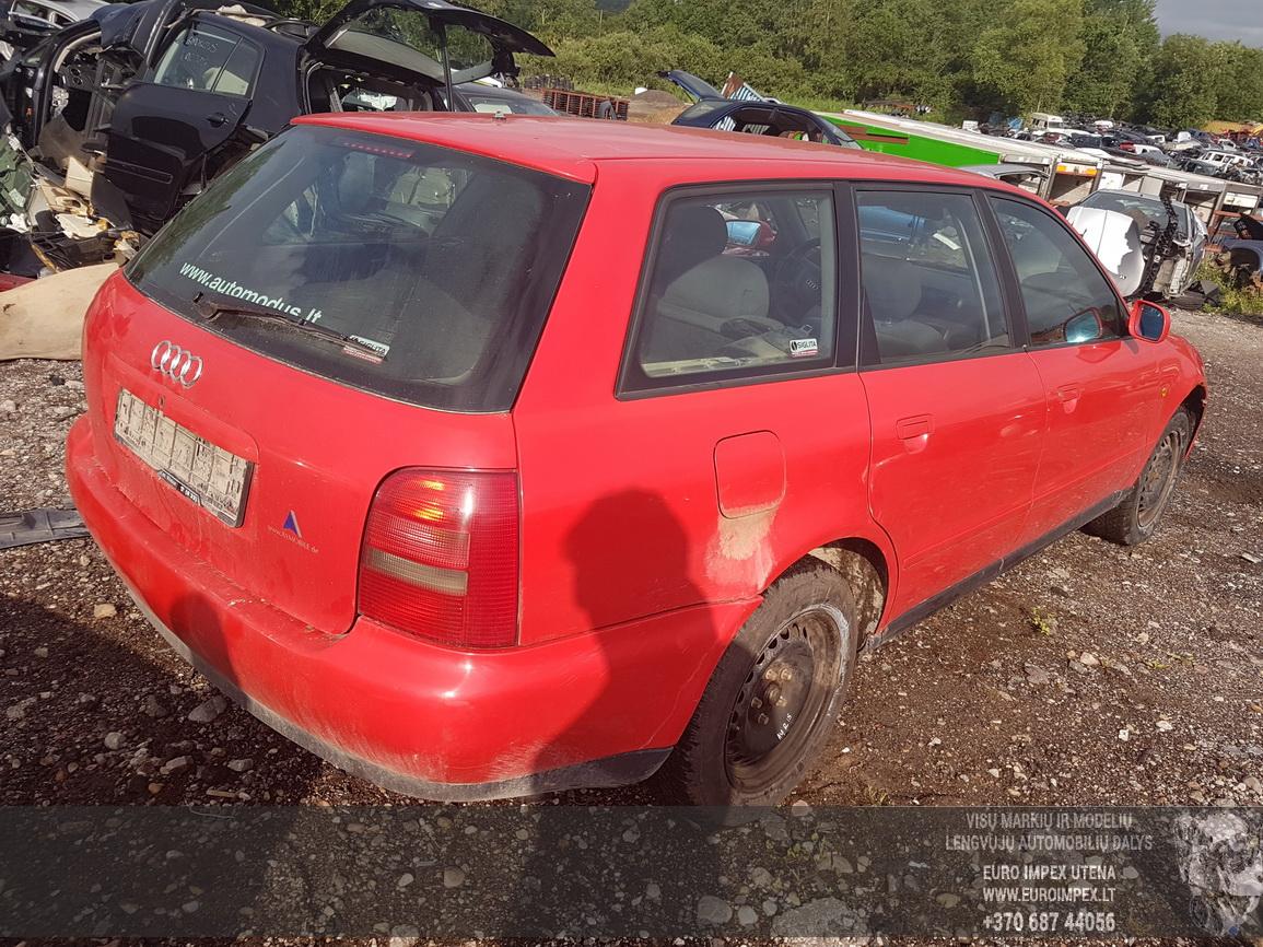 Naudotos automobilio dalys Audi A4 1998 1.9 Automatinė Universalas 4/5 d. Raudona 2016-6-21