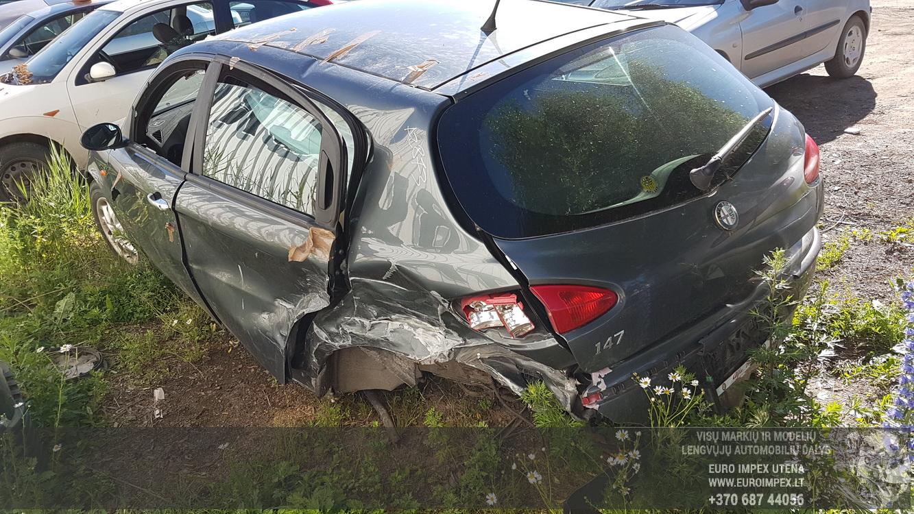 Naudotos automobilio dalys Alfa-Romeo 147 2001 1.9 Mechaninė Hečbekas 4/5 d. Pilka 2016-6-23
