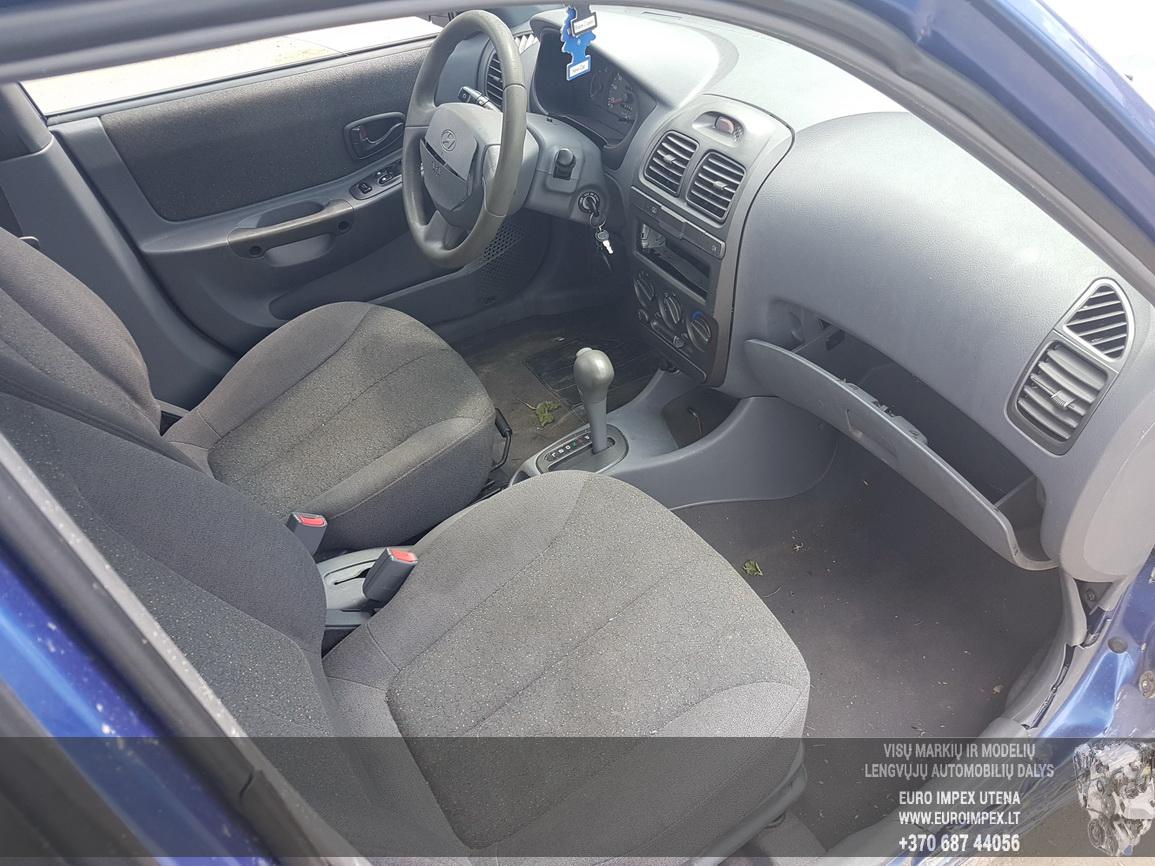 Naudotos automobiliu dallys Foto 5 Hyundai ACCENT 2002 1.5 Automatinė Hečbekas 4/5 d. Melyna 2016-6-30 A2882