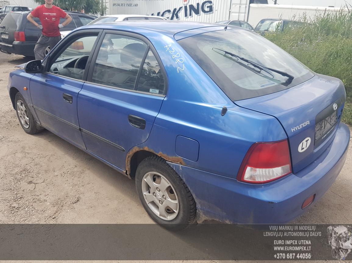Naudotos automobiliu dallys Foto 7 Hyundai ACCENT 2002 1.5 Automatinė Hečbekas 4/5 d. Melyna 2016-6-30 A2882