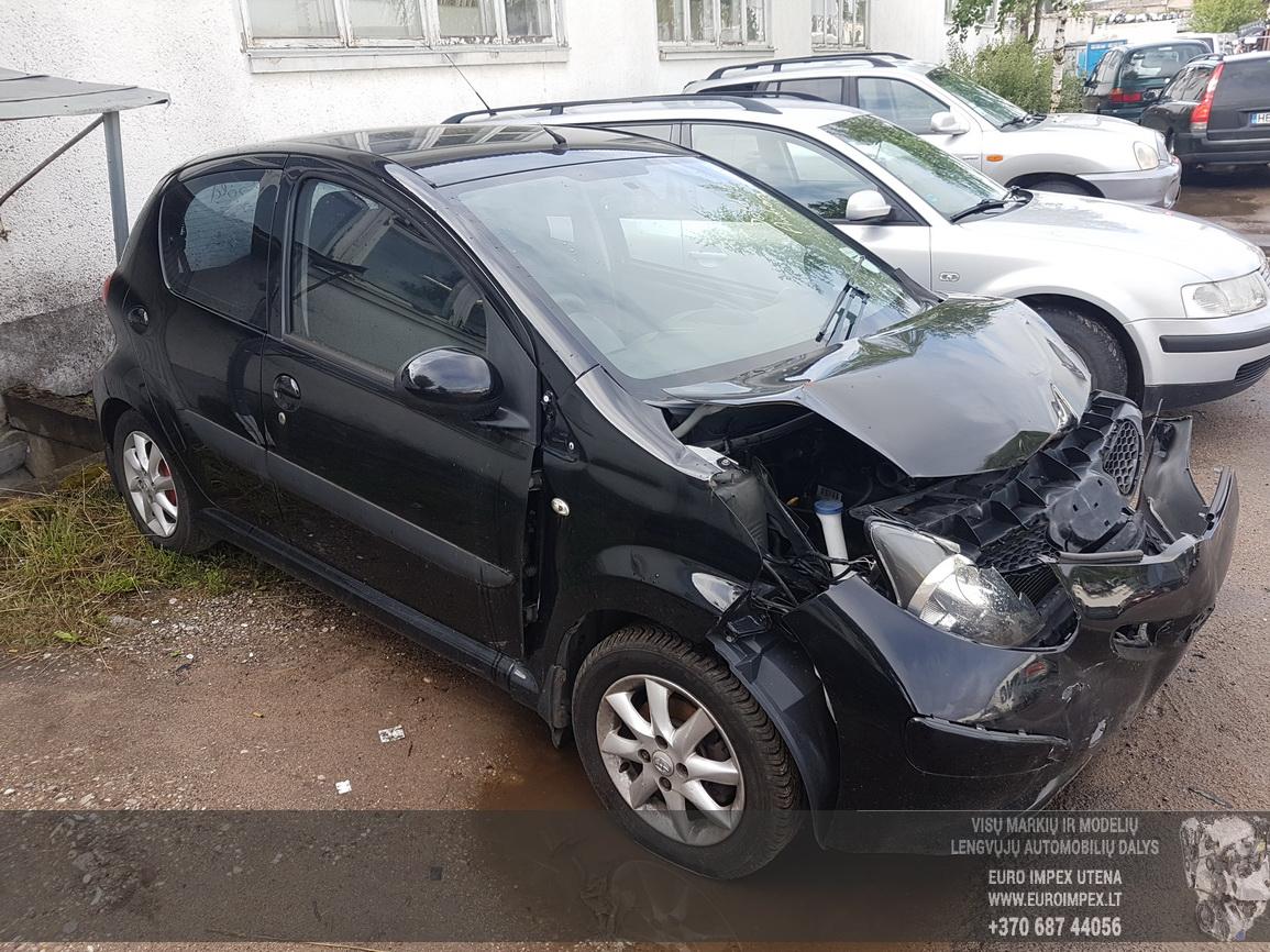 Naudotos automobilio dalys Toyota AYGO 2006 1.0 Mechaninė Hečbekas 4/5 d. Juoda 2016-7-08