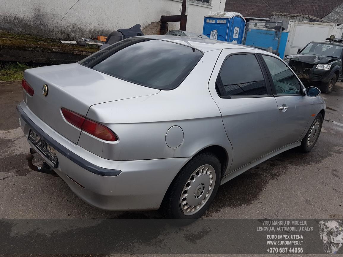 Naudotos automobilio dalys Alfa-Romeo 156 1999 1.9 Mechaninė Sedanas 4/5 d. Pilka 2016-7-08