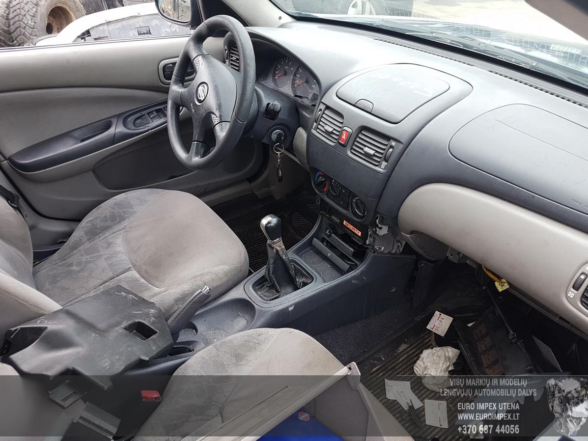 Naudotos automobiliu dallys Foto 5 Nissan ALMERA 2000 1.8 Mechaninė Hečbekas 4/5 d. Melyna 2016-7-14 A2899