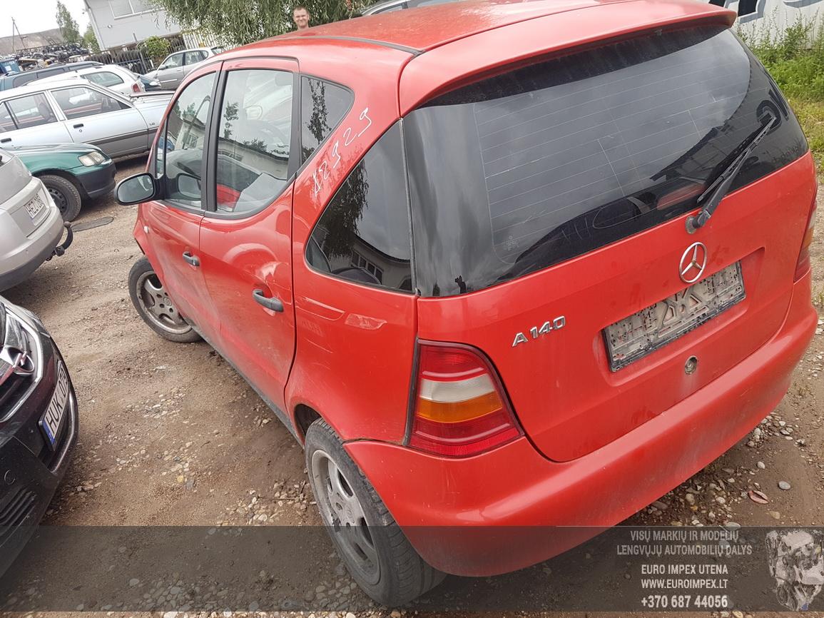Naudotos automobiliu dallys Foto 7 Mercedes-Benz A-CLASS 2001 1.4 Mechaninė Hečbekas 4/5 d. Raudona 2016-7-29 A2929