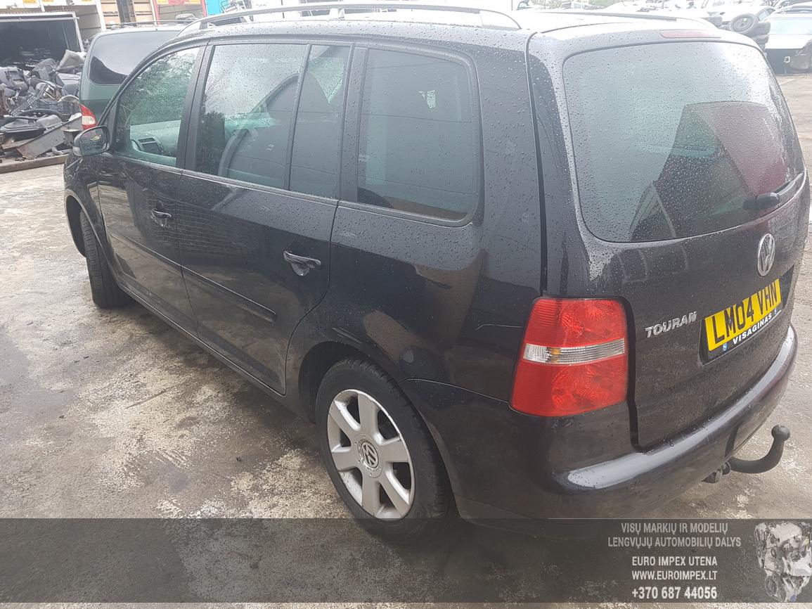 Naudotos automobilio dalys Volkswagen TOURAN 2004 2.0 Mechaninė Vienatūris 4/5 d. Juoda 2016-8-03