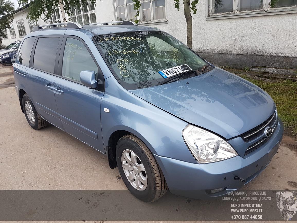 Naudotos automobilio dalys Kia SEDONA 2008 2.9 Mechaninė Vienatūris 4/5 d. Zydra 2016-8-05