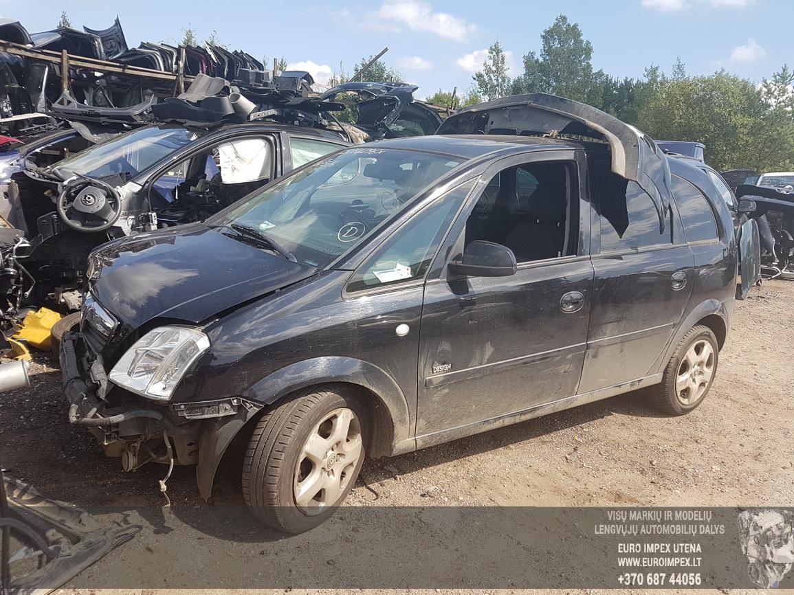Naudotos automobilio dalys Opel MERIVA 2007 1.7 Mechaninė Hečbekas 4/5 d. Juoda 2016-8-05