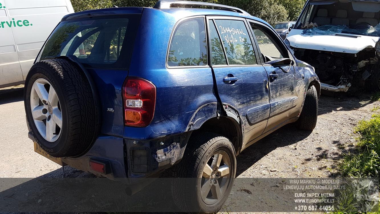 Naudotos automobiliu dallys Foto 6 Toyota RAV-4 2003 2.0 Mechaninė Visureigis 4/5 d. Melyna 2016-8-25 A2952