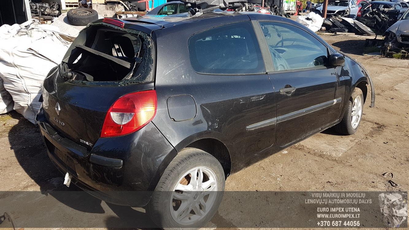 Naudotos automobilio dalys Renault CLIO 2005 1.2 Mechaninė Hečbekas 2/3 d. Juoda 2016-8-26