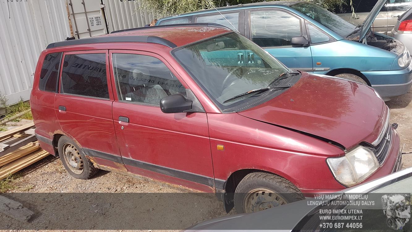 Naudotos automobiliu dallys Foto 3 Daihatsu GRAN MOVE 2000 1.6 Mechaninė Vienatūris 4/5 d. Raudona 2016-8-31 A2963