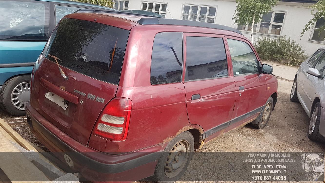 Naudotos automobiliu dallys Foto 5 Daihatsu GRAN MOVE 2000 1.6 Mechaninė Vienatūris 4/5 d. Raudona 2016-8-31 A2963