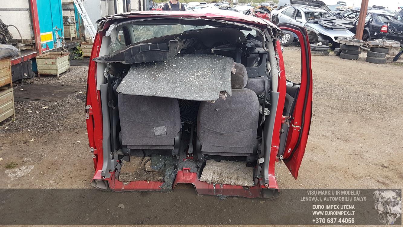Naudotos automobilio dalys Toyota YARIS VERSO 2001 1.3 Automatinė Vienatūris 4/5 d. Raudona 2016-9-20