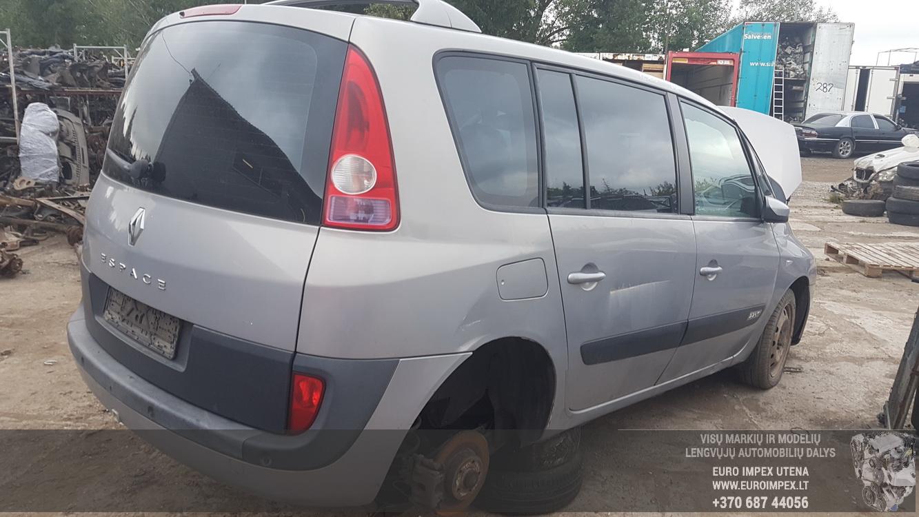 Naudotos automobilio dalys Renault ESPACE 2002 2.2 Mechaninė Vienatūris 4/5 d. Pilka 2016-9-22