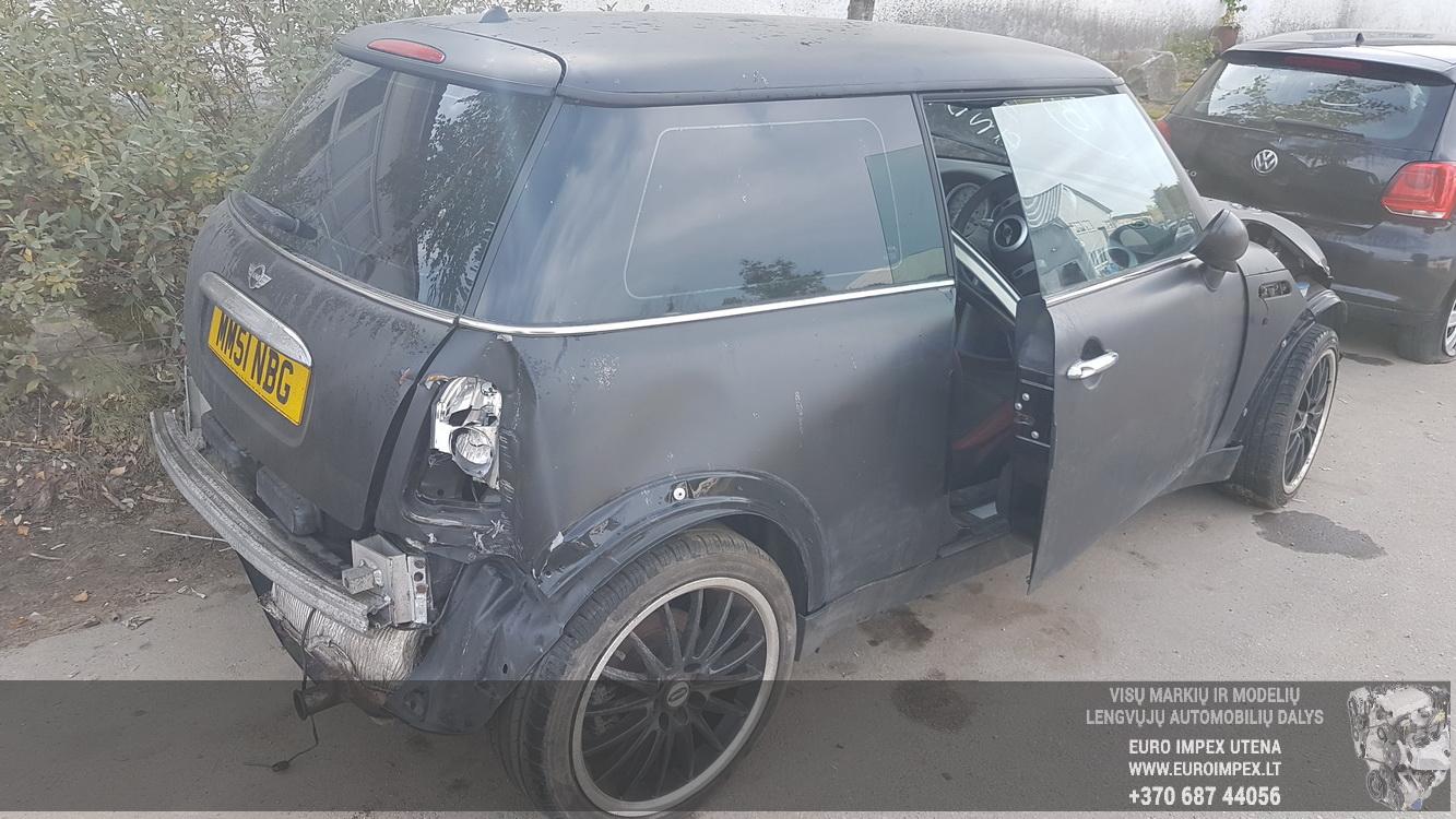 Naudotos automobilio dalys Mini ONE 2002 1.6 Mechaninė Hečbekas 2/3 d. Juoda 2016-9-28