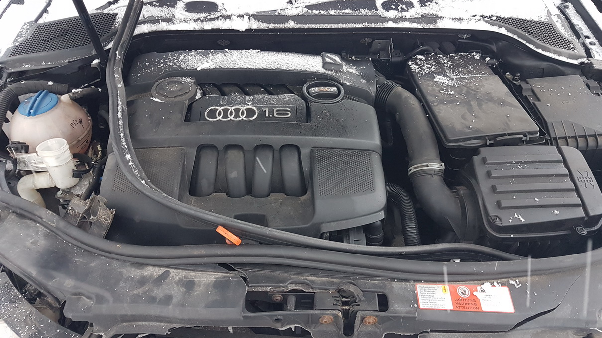 Naudotos automobiliu dallys Foto 8 Audi A3 2005 1.6 Mechaninė Hečbekas 2/3 d. Juoda 2017-1-03 A3142