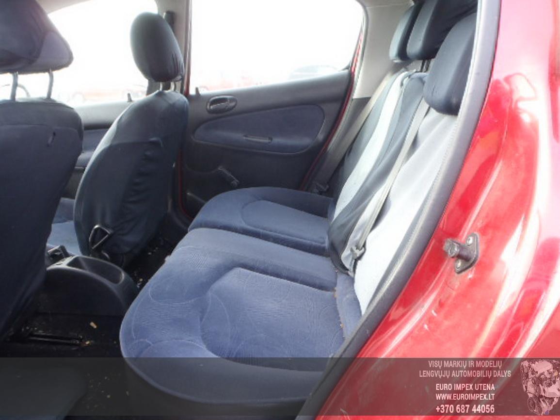 Naudotos automobilio dalys Peugeot 206 2002 1.4 Mechaninė Hečbekas 4/5 d. Raudona 2016-2-15