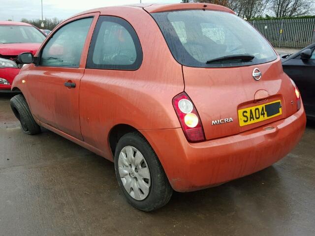 Naudotos automobilio dalys Nissan MICRA 2003 1.2 Mechaninė Hečbekas 2/3 d. Ruda 2017-1-02