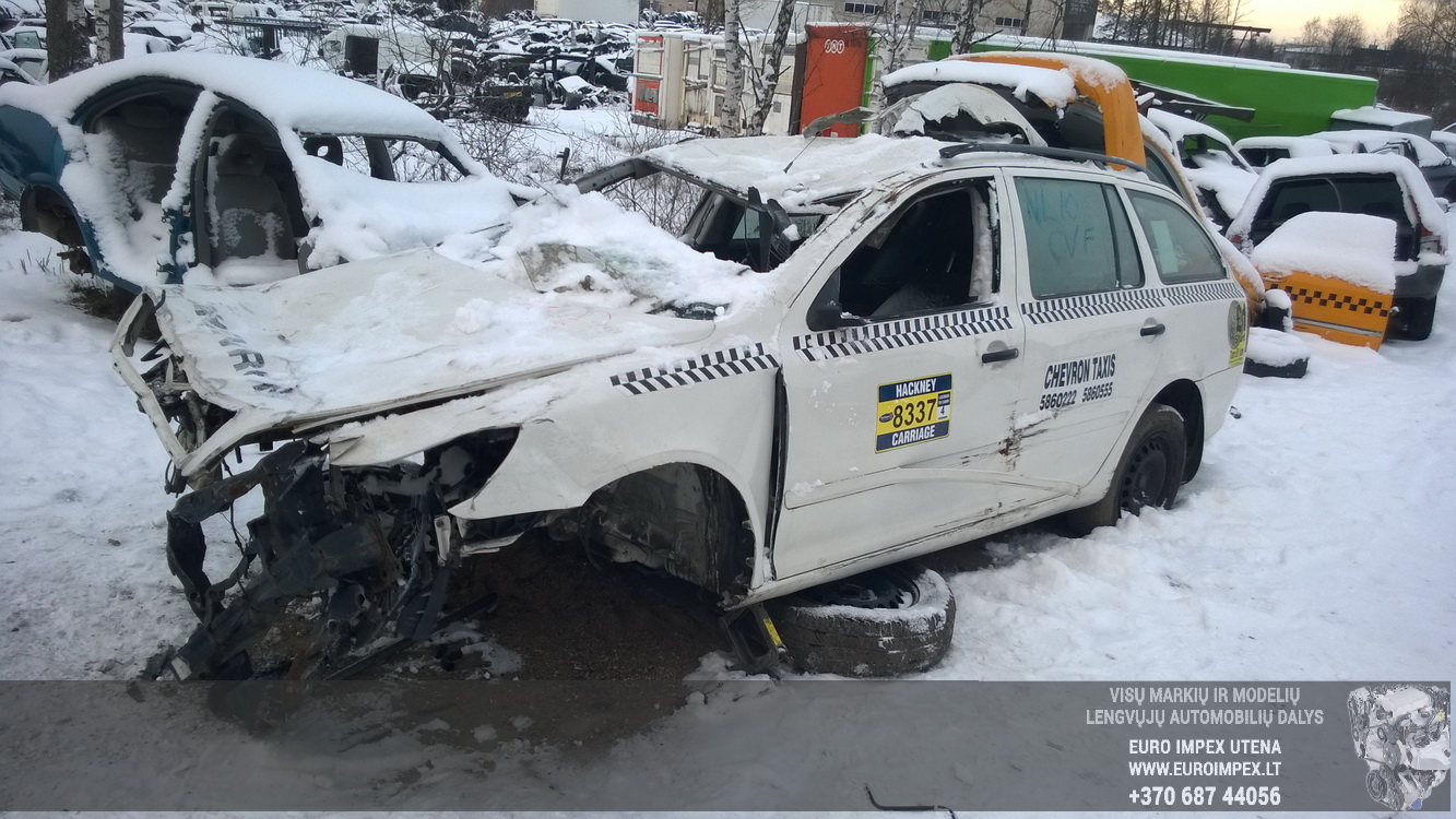 Naudotos automobilio dalys Skoda OCTAVIA 2011 1.9 Mechaninė Universalas 4/5 d. Balta 2016-1-08