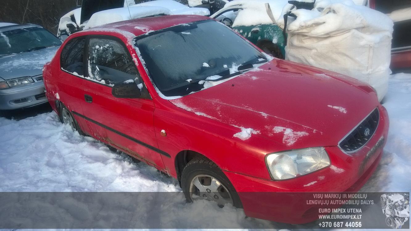 Naudotos automobilio dalys Hyundai ACCENT 2002 1.3 Mechaninė Hečbekas 2/3 d. Raudona 2016-1-21