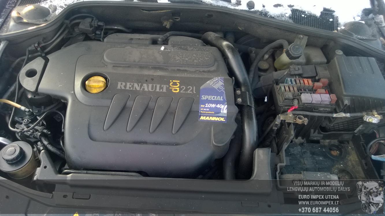 Naudotos automobiliu dallys Foto 8 Renault LAGUNA 2003 2.2 Mechaninė Universalas 4/5 d. Juoda 2016-1-21 A2567