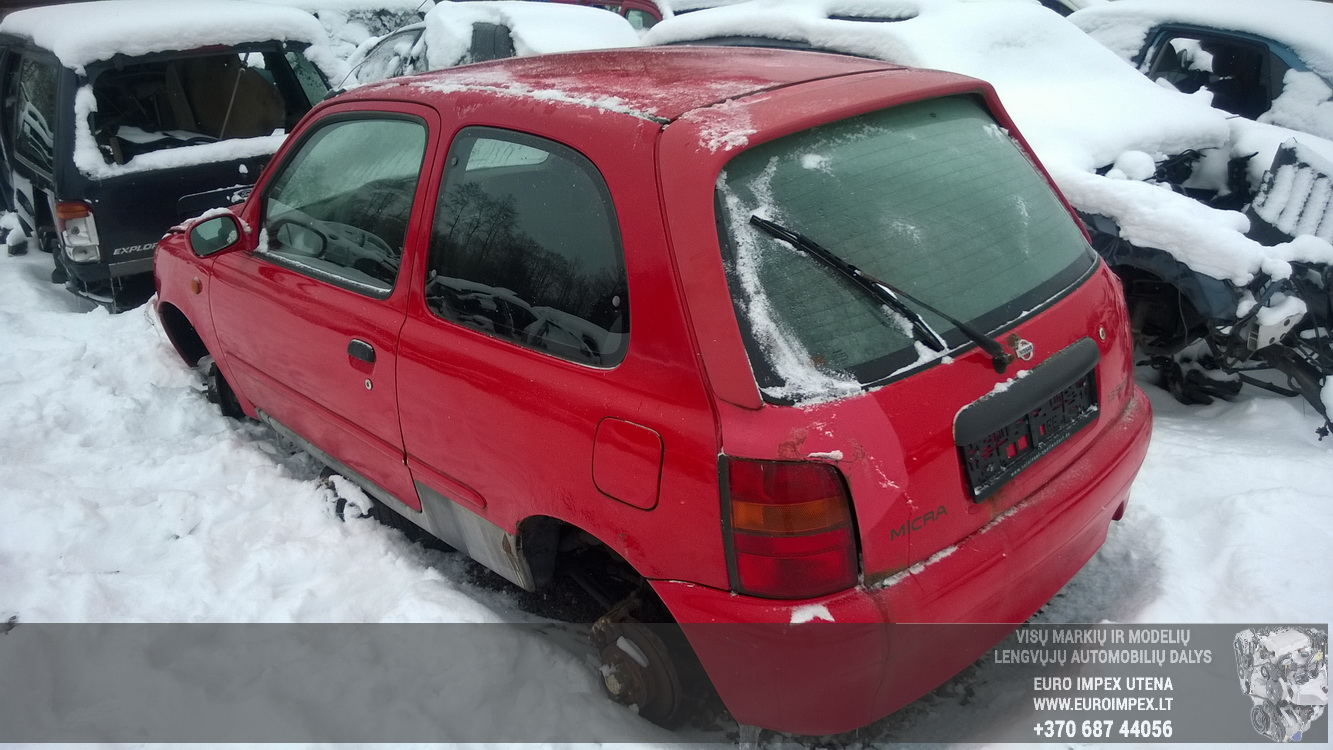 Naudotos automobilio dalys Nissan MICRA 1995 1.3 Mechaninė Hečbekas 2/3 d. Raudona 2016-1-22
