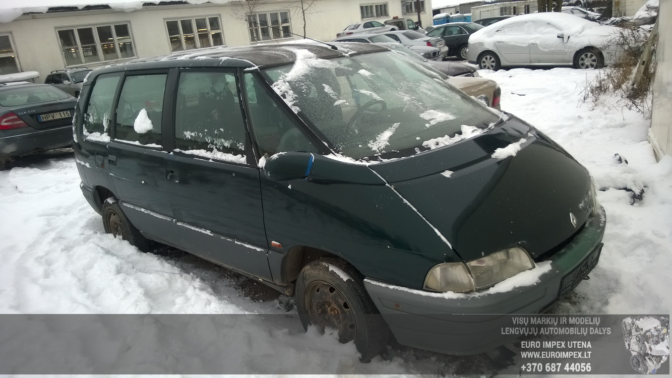 Naudotos automobilio dalys Renault ESPACE 1995 2.2 Mechaninė Vienatūris 4/5 d. Zalia 2016-1-22