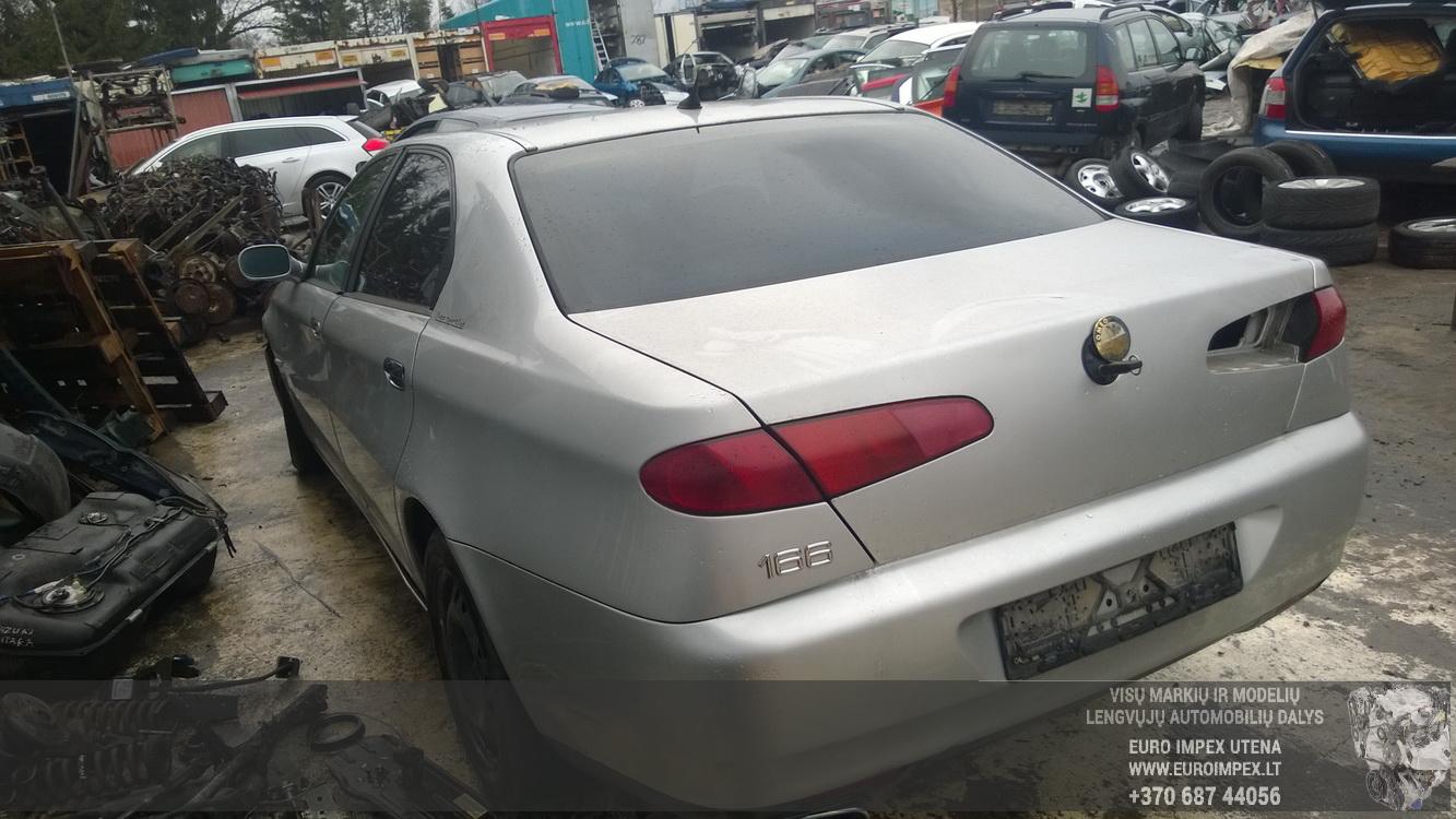 Naudotos automobilio dalys Alfa-Romeo 166 2001 2.4 Mechaninė Sedanas 4/5 d. Sidabrine 2016-1-28