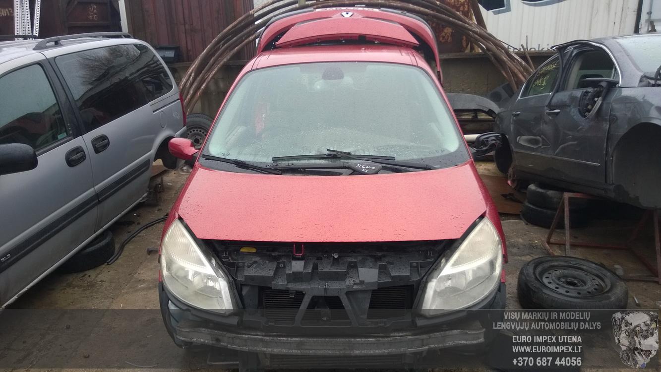 Naudotos automobiliu dallys Foto 2 Renault SCENIC 2005 1.5 Mechaninė Vienatūris 4/5 d. Raudona 2016-1-26 A2575