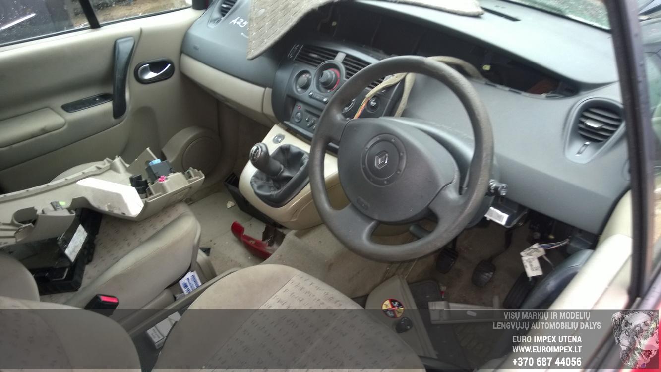 Naudotos automobiliu dallys Foto 4 Renault SCENIC 2005 1.5 Mechaninė Vienatūris 4/5 d. Raudona 2016-1-26 A2575