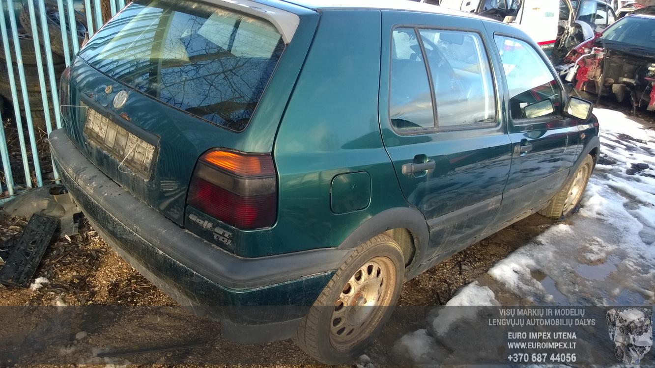 Naudotos automobiliu dallys Foto 7 Volkswagen GOLF 1998 1.9 Mechaninė Hečbekas 4/5 d. Zalia 2016-2-23 A2619
