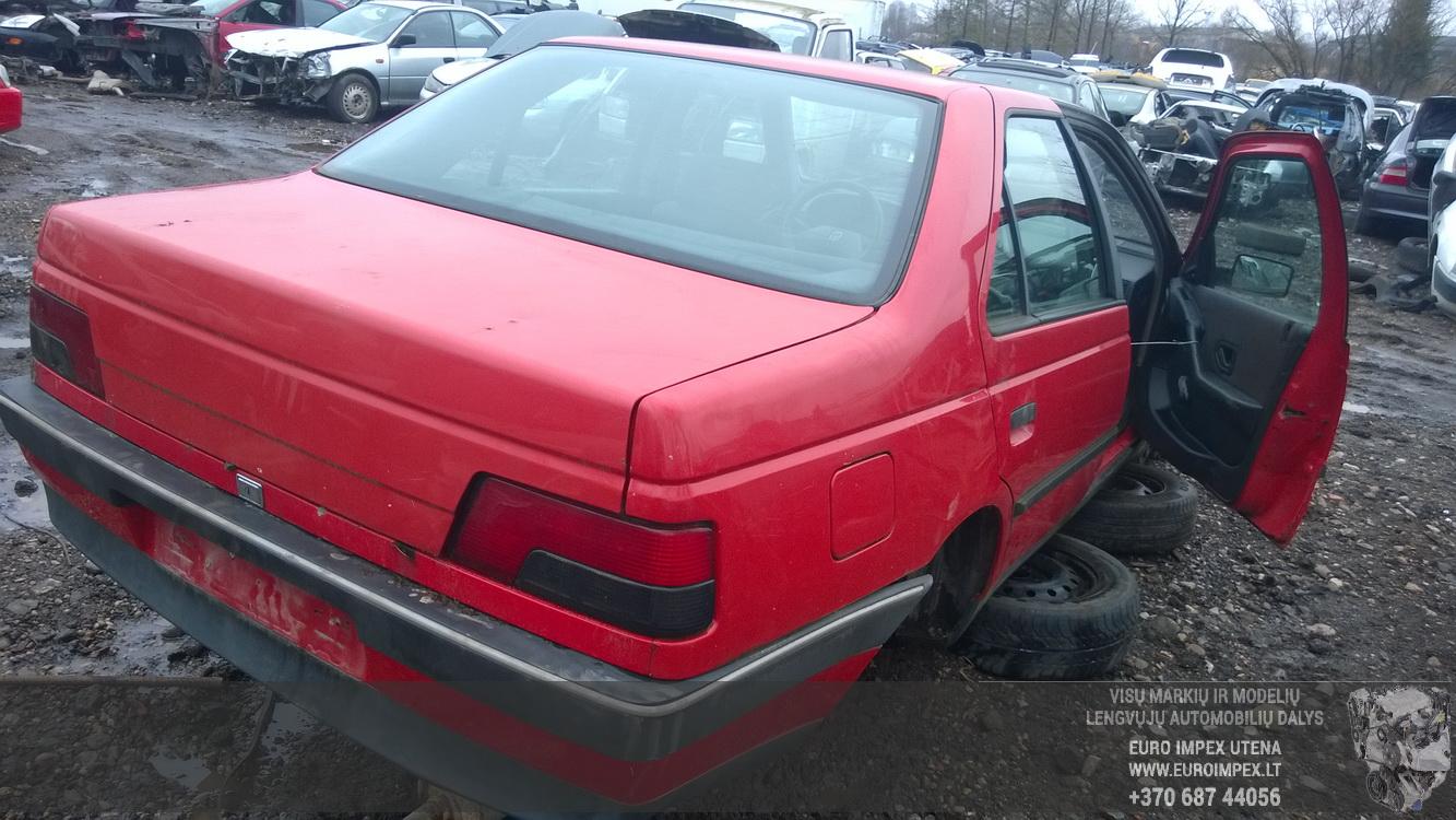 Naudotos automobilio dalys Peugeot 405 1992 1.9 Mechaninė Sedanas 4/5 d. Raudona 2016-3-09