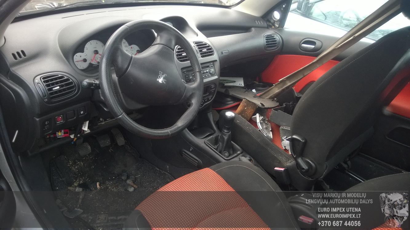 Naudotos automobiliu dallys Foto 4 Peugeot 206 2001 1.6 Mechaninė Kabrioletas 2/3 d. Pilka 2016-3-18 A2650