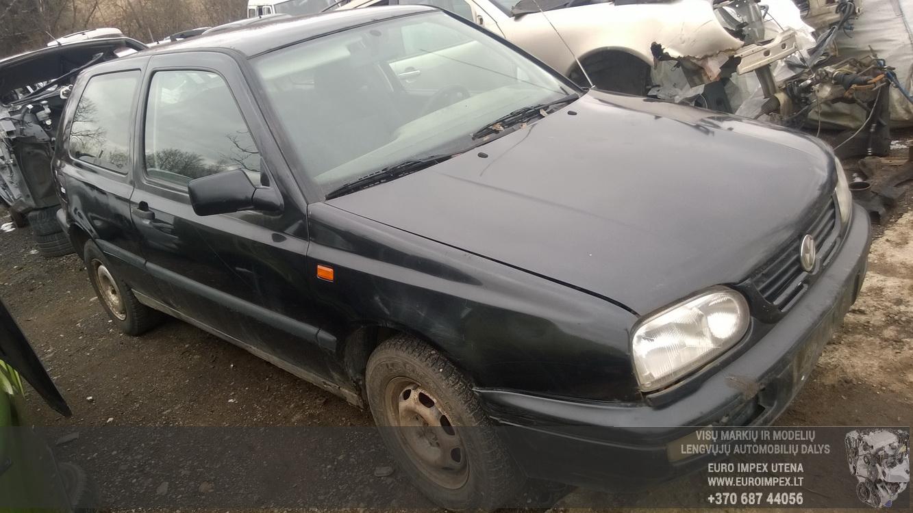 Naudotos automobiliu dallys Foto 3 Volkswagen GOLF 1996 1.9 Mechaninė Hečbekas 2/3 d. Juoda 2016-3-22 A2658