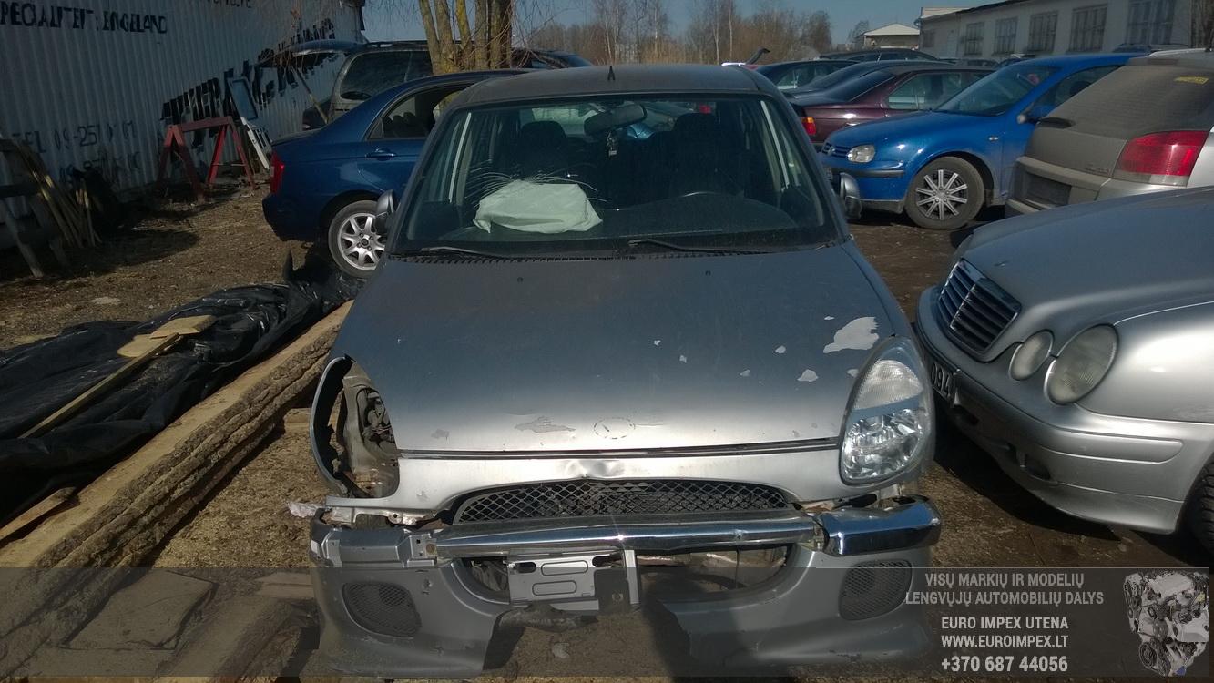 Naudotos automobiliu dallys Foto 2 Daihatsu SIRION 2002 1.3 Mechaninė Hečbekas 4/5 d. Pilka 2016-3-25 A2667