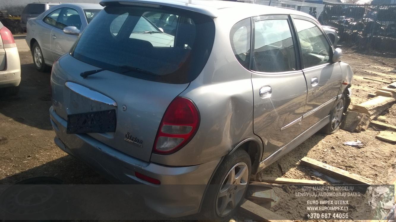 Naudotos automobilio dalys Daihatsu SIRION 2002 1.3 Mechaninė Hečbekas 4/5 d. Pilka 2016-3-25