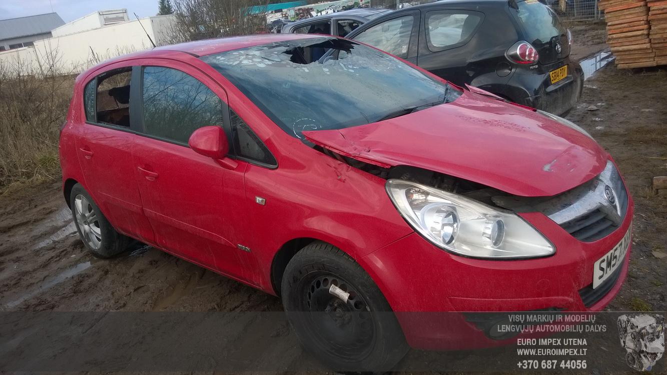 Naudotos automobilio dalys Opel CORSA 2007 1.3 Mechaninė Hečbekas 4/5 d. Raudona 2016-3-31