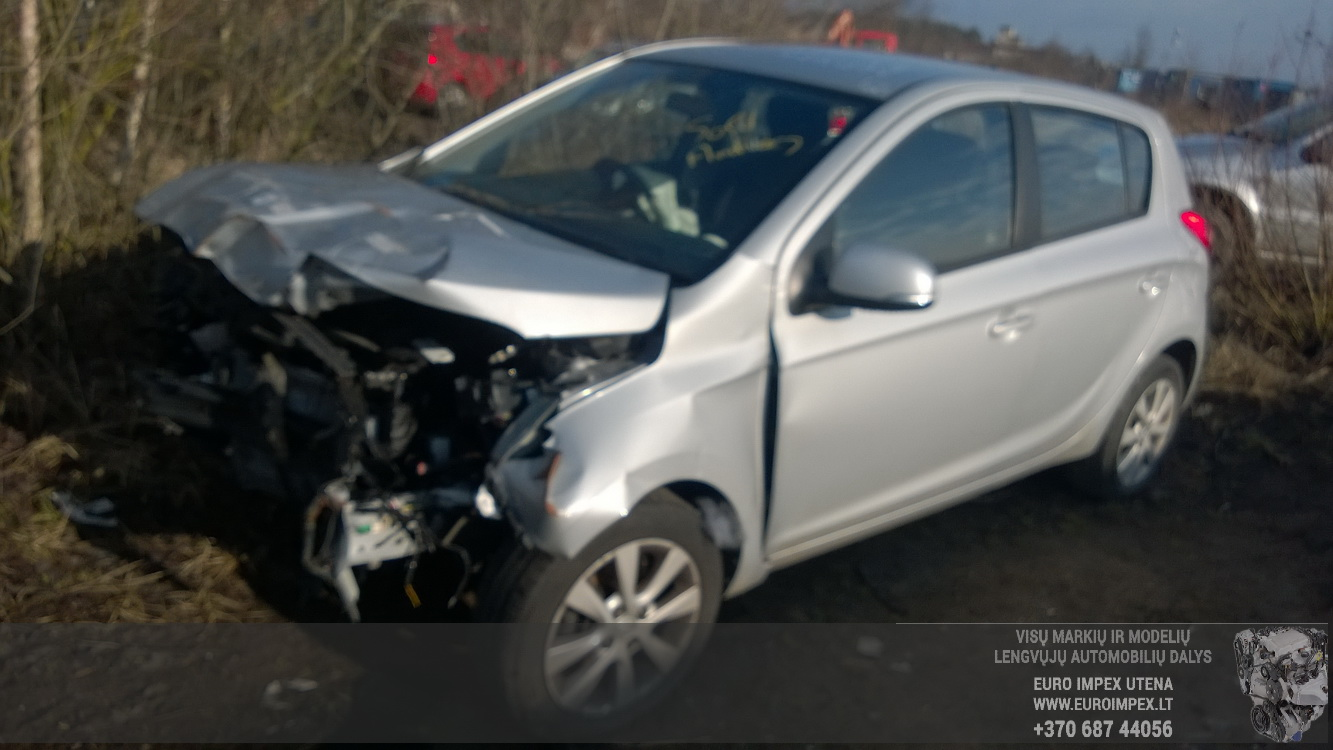 Naudotos automobilio dalys Hyundai I20 2013 1.2 Mechaninė Hečbekas 4/5 d. Pilka 2016-3-31