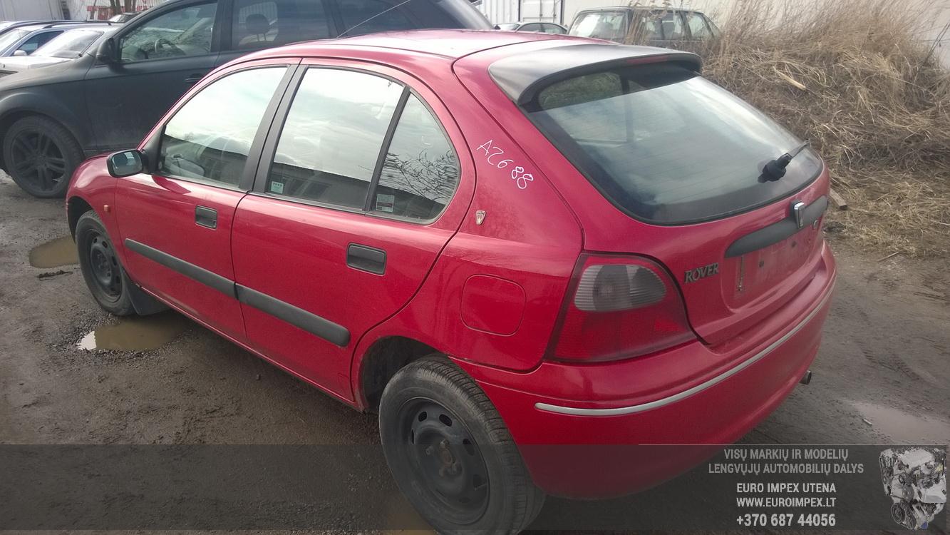 Naudotos automobilio dalys Rover 200-SERIES 1999 1.4 Mechaninė Hečbekas 4/5 d. Raudona 2016-4-01