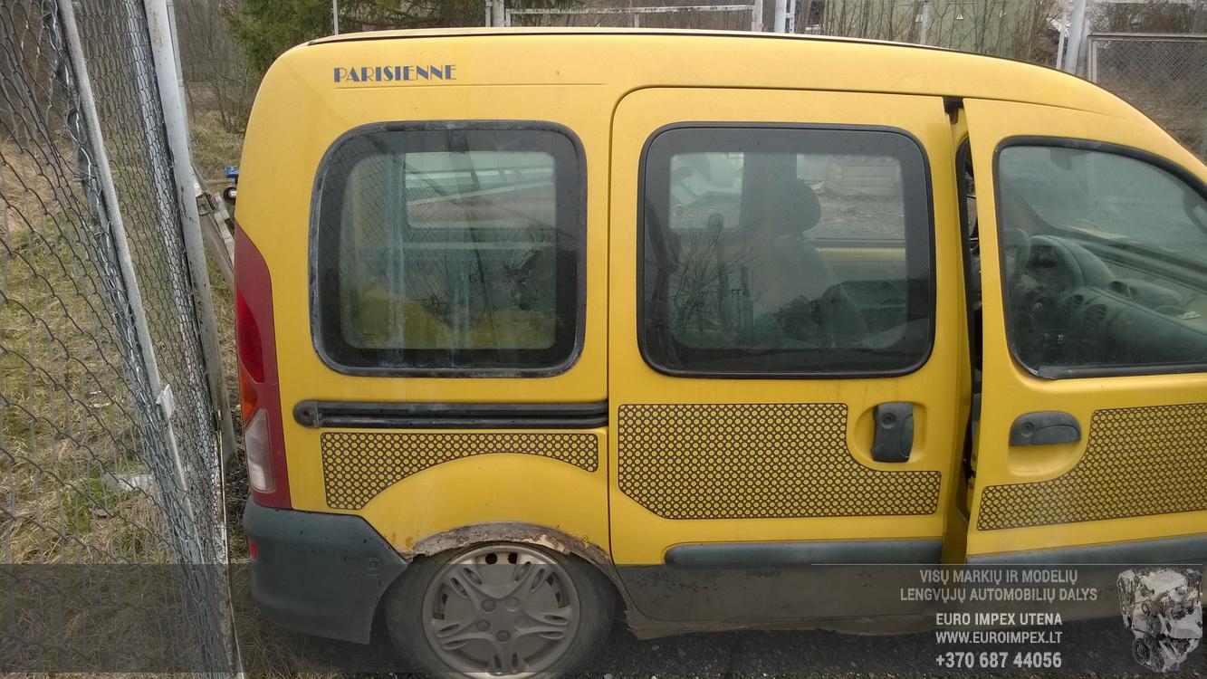 Naudotos automobilio dalys Renault KANGOO 1998 1.2 Mechaninė Komercinis 2/3 d. Geltona 2016-4-12