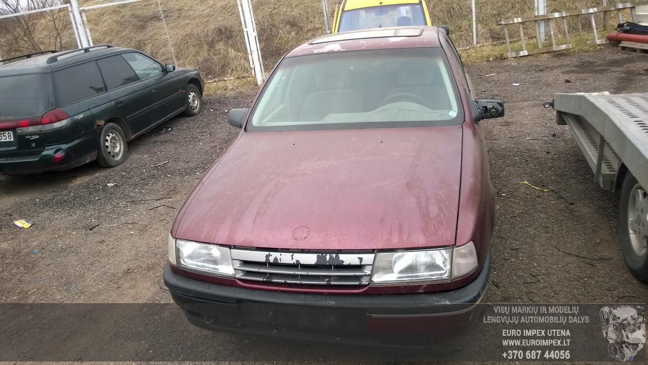 Naudotos automobiliu dallys Foto 2 Opel VECTRA 1989 1.6 Mechaninė Sedanas 4/5 d. Raudona 2016-4-12 A2714