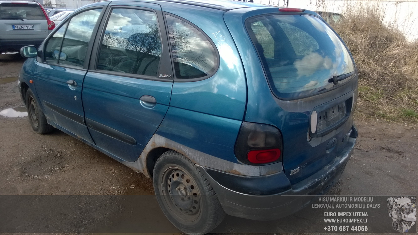 Used Car Parts Foto 7 Renault SCENIC 1997 1.6 Mechanical Minivan 4/5 d. Blue 2016-4-15 A2717