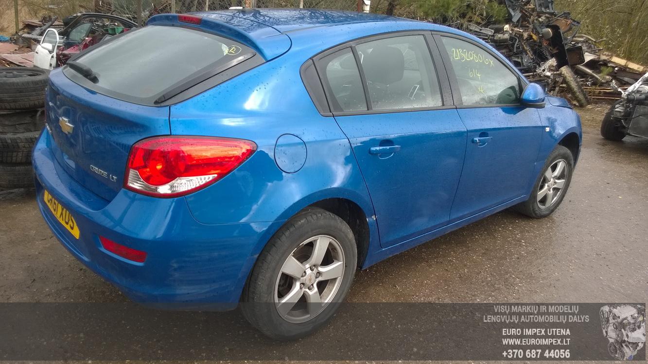 Naudotos automobilio dalys Chevrolet CRUZE 2011 1.6 Mechaninė Hečbekas 4/5 d. Melyna 2016-4-25
