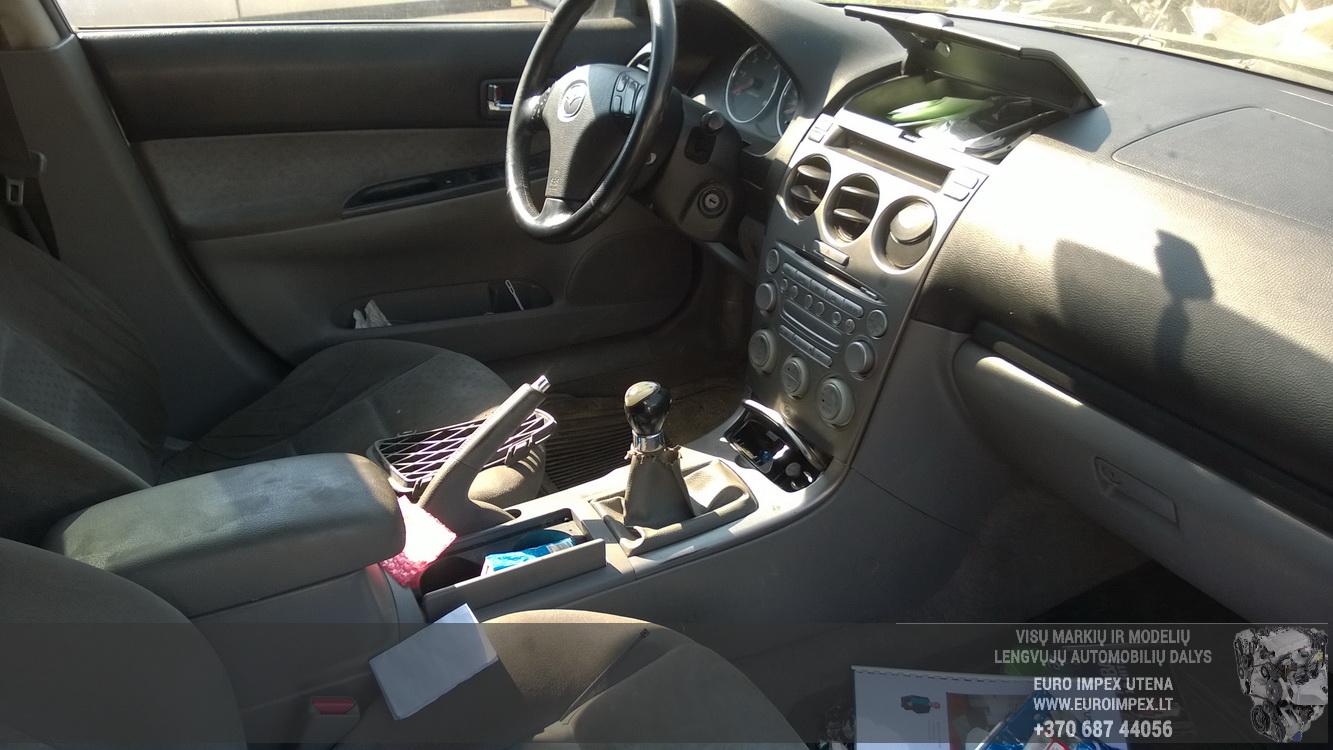 Naudotos automobiliu dallys Foto 5 Mazda 6 2003 2.0 Mechaninė Hečbekas 4/5 d. Pilka 2016-5-10 A2778