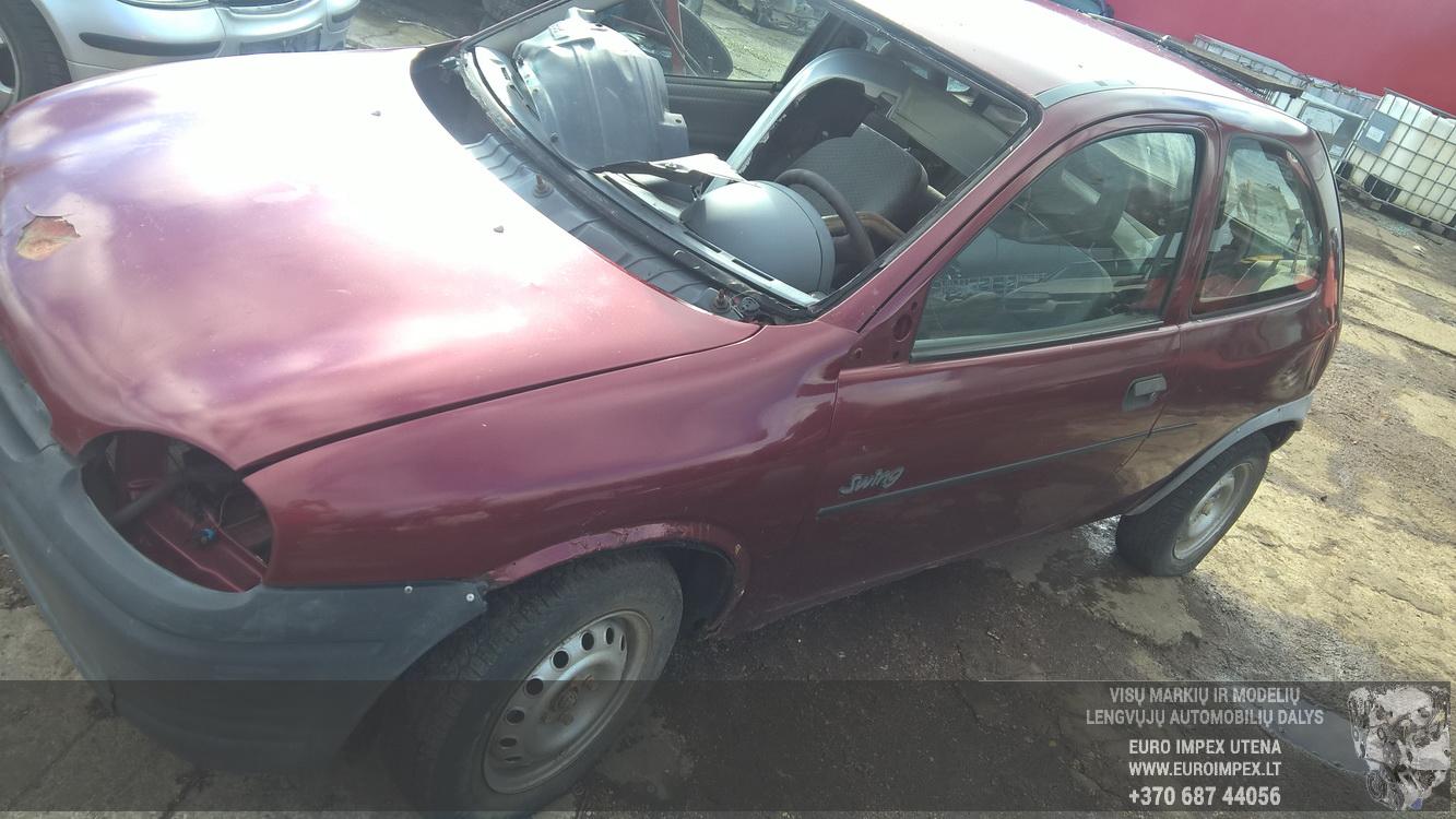 Naudotos automobilio dalys Opel CORSA 1995 1.4 Mechaninė Hečbekas 2/3 d. Raudona 2016-8-18