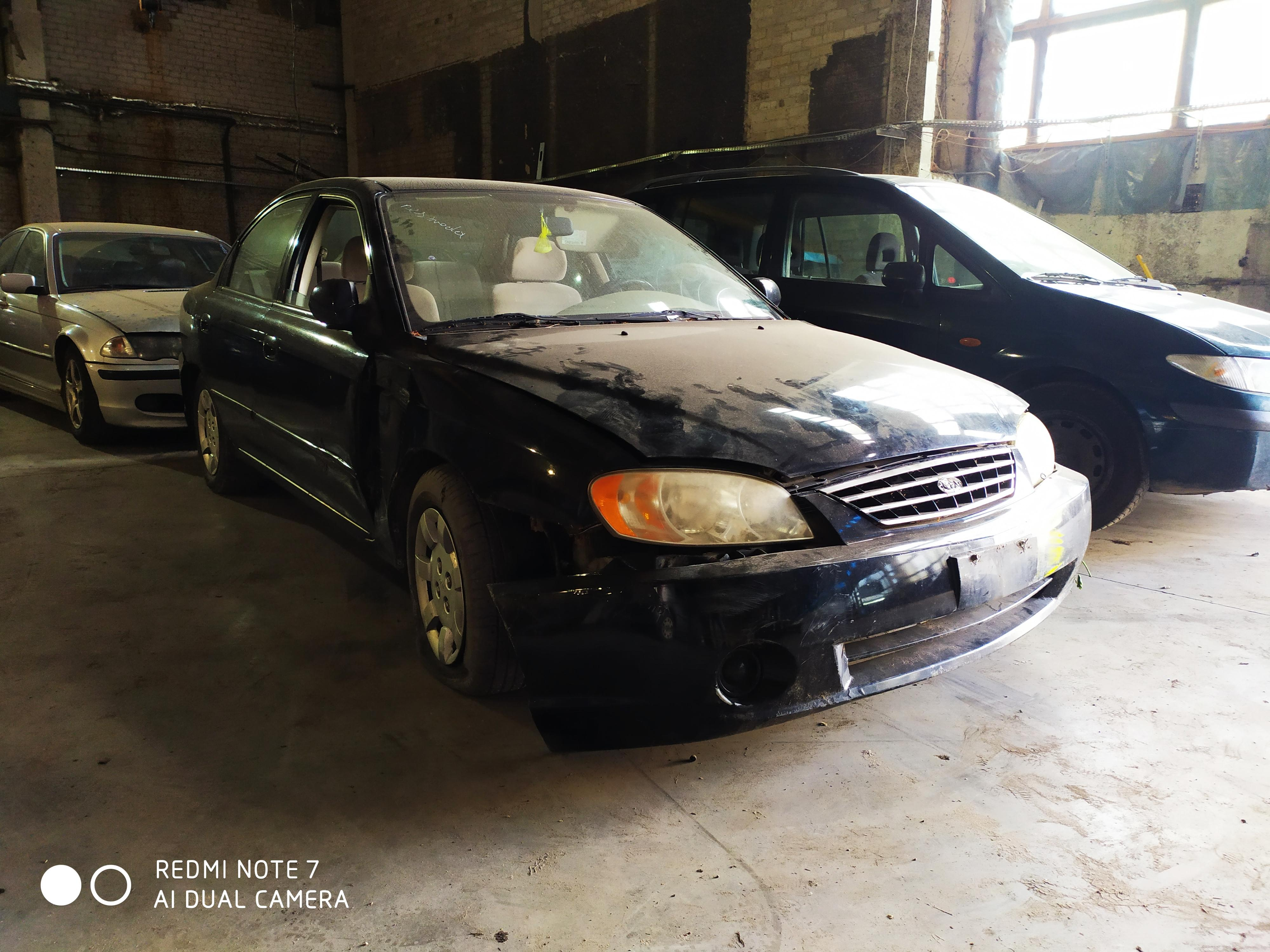 Naudotos automobilio dalys Kia SPECTRA 2002 1.8 Automatinė Sedanas 4/5 d. Juoda 2020-8-19