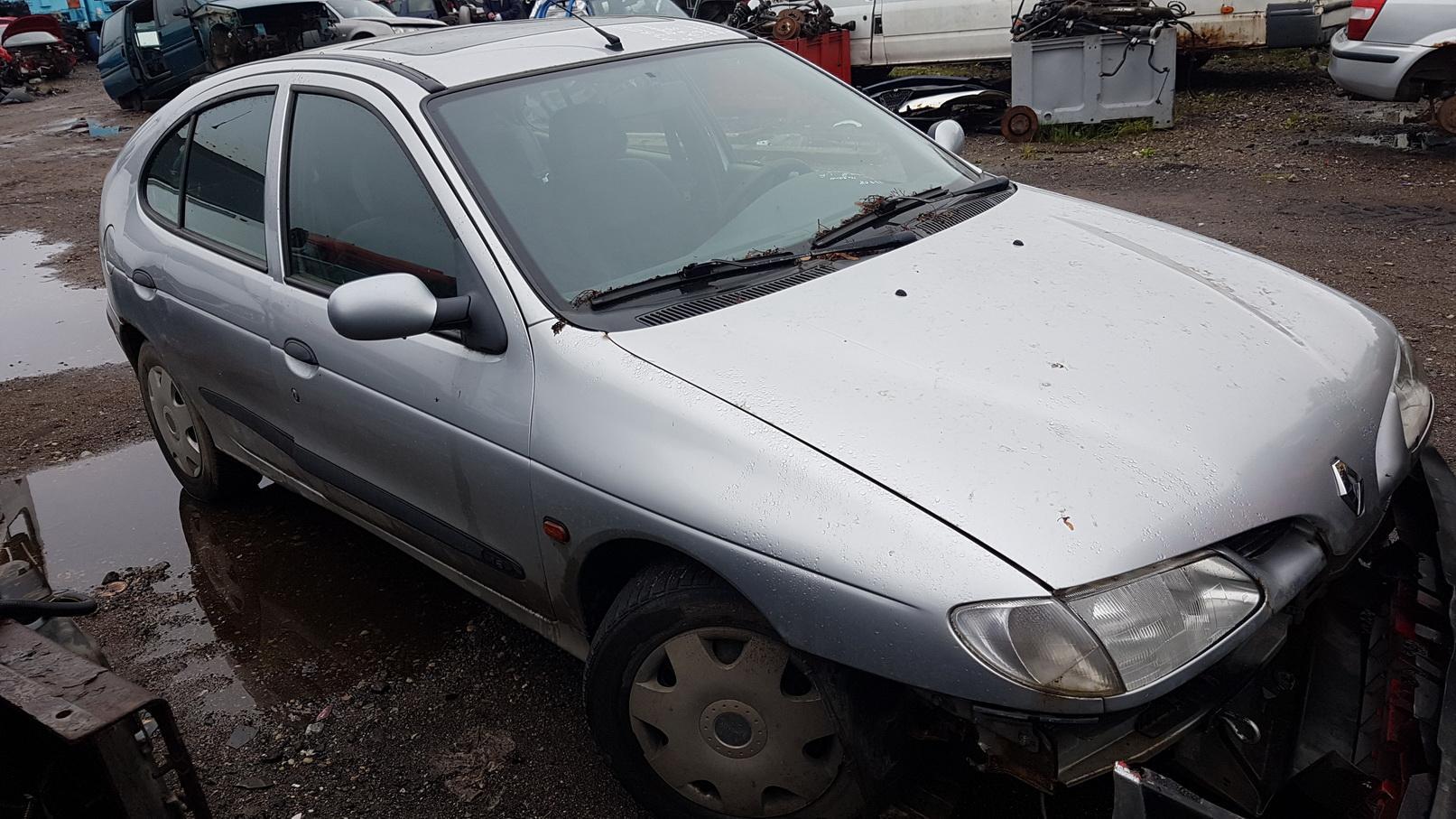 Naudotos automobilio dalys Renault MEGANE 1998 1.6 Mechaninė Hečbekas 4/5 d. Pilka 2018-7-02